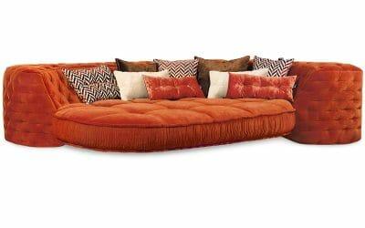 Bretz SOFA ECKBANK Z117re in kupfer-orange