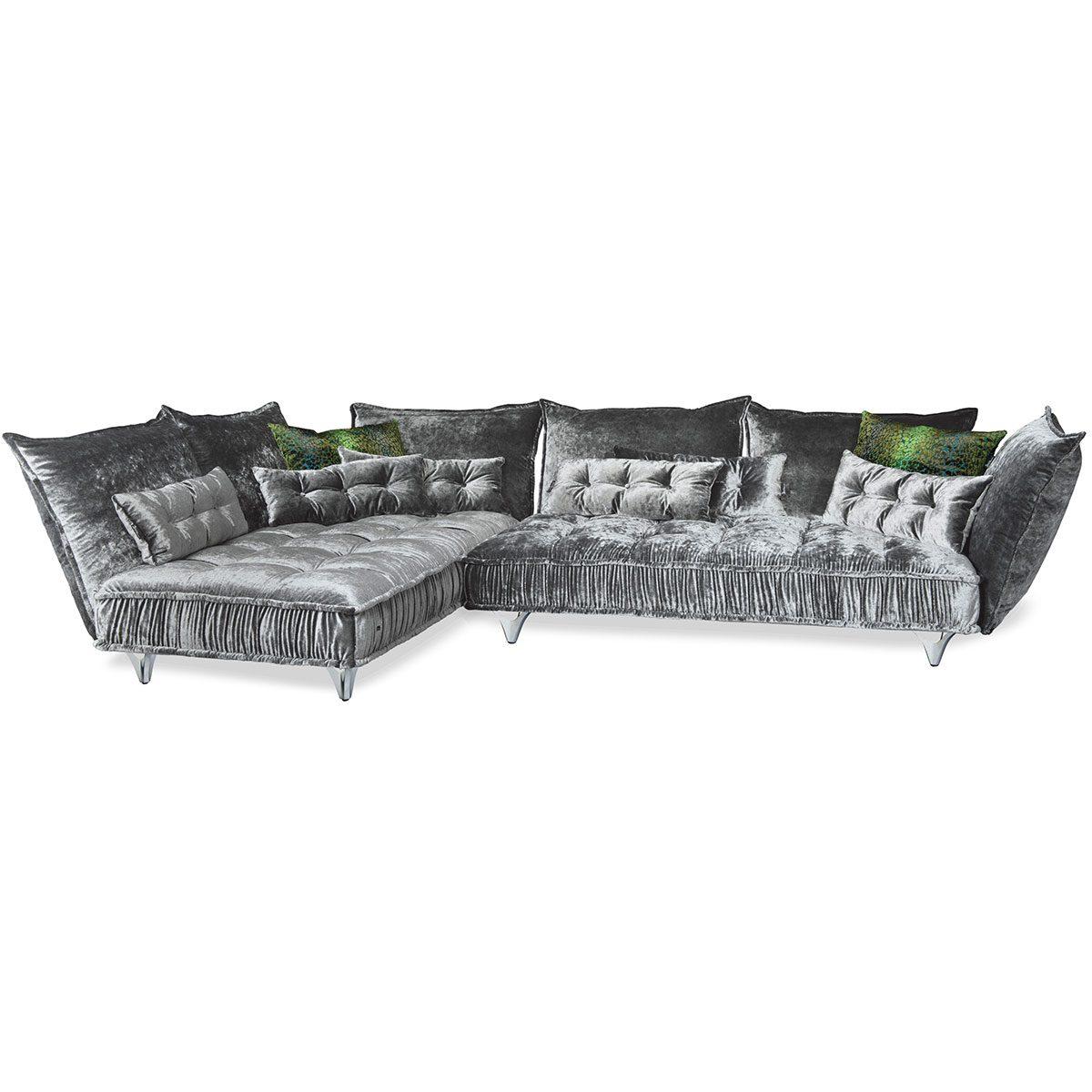 Bretz Sofa OHLINDA Z118li in silberschimmer