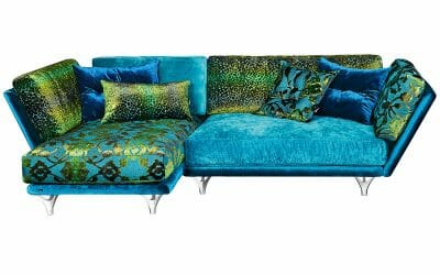 Bretz Sofa Napali Xli-Ure 126 (Set 7) in türkis mix