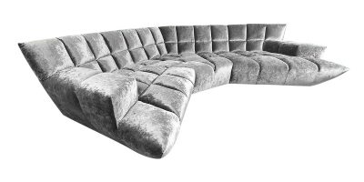 Bretz Sofa CLOUD7 Z154 in silberschimmer