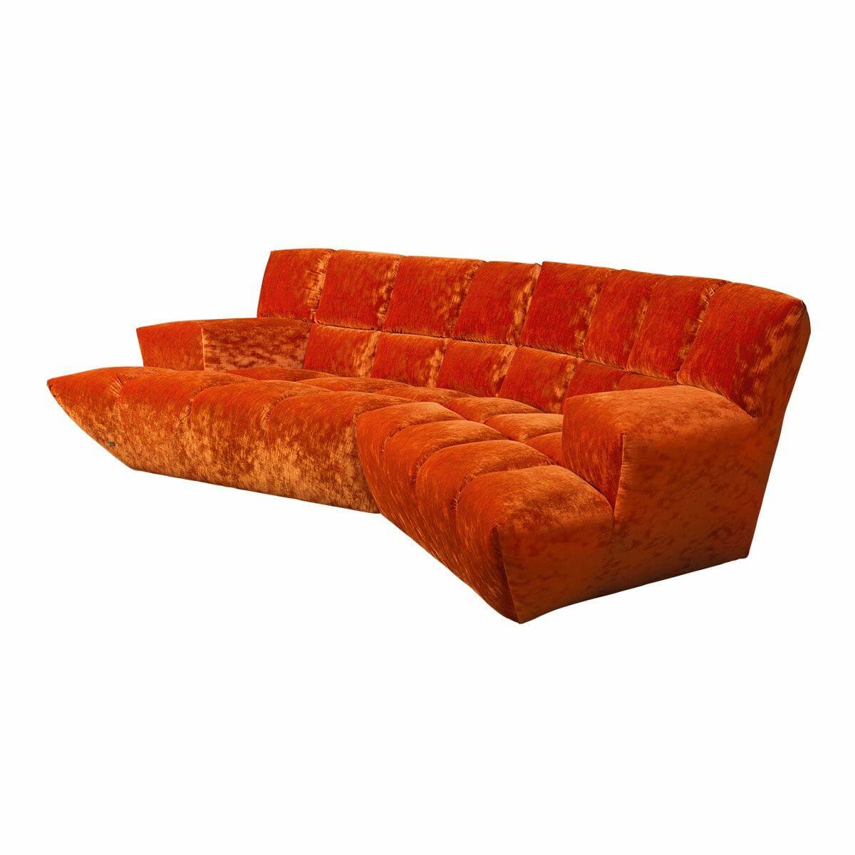 Bretz Cloud 7 Sofa F154 in Velvet orange