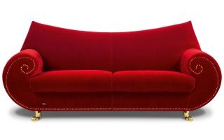Bretz Sofa Gaudi F210 in purpurrrot