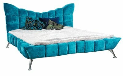 Bretz Bett CLOUD7 W154 in capriblau
