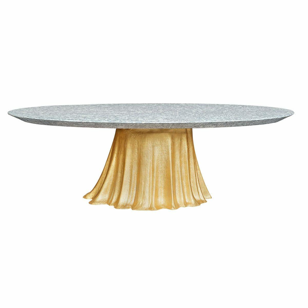 Bretz Tisch MAUNA LOA N137 gold / beton meliert