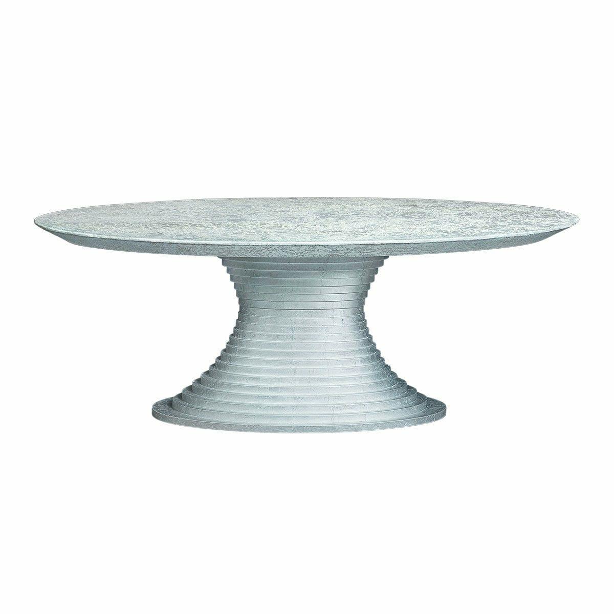 Bretz Tisch NOFRETETE N131 silber / beton meliert