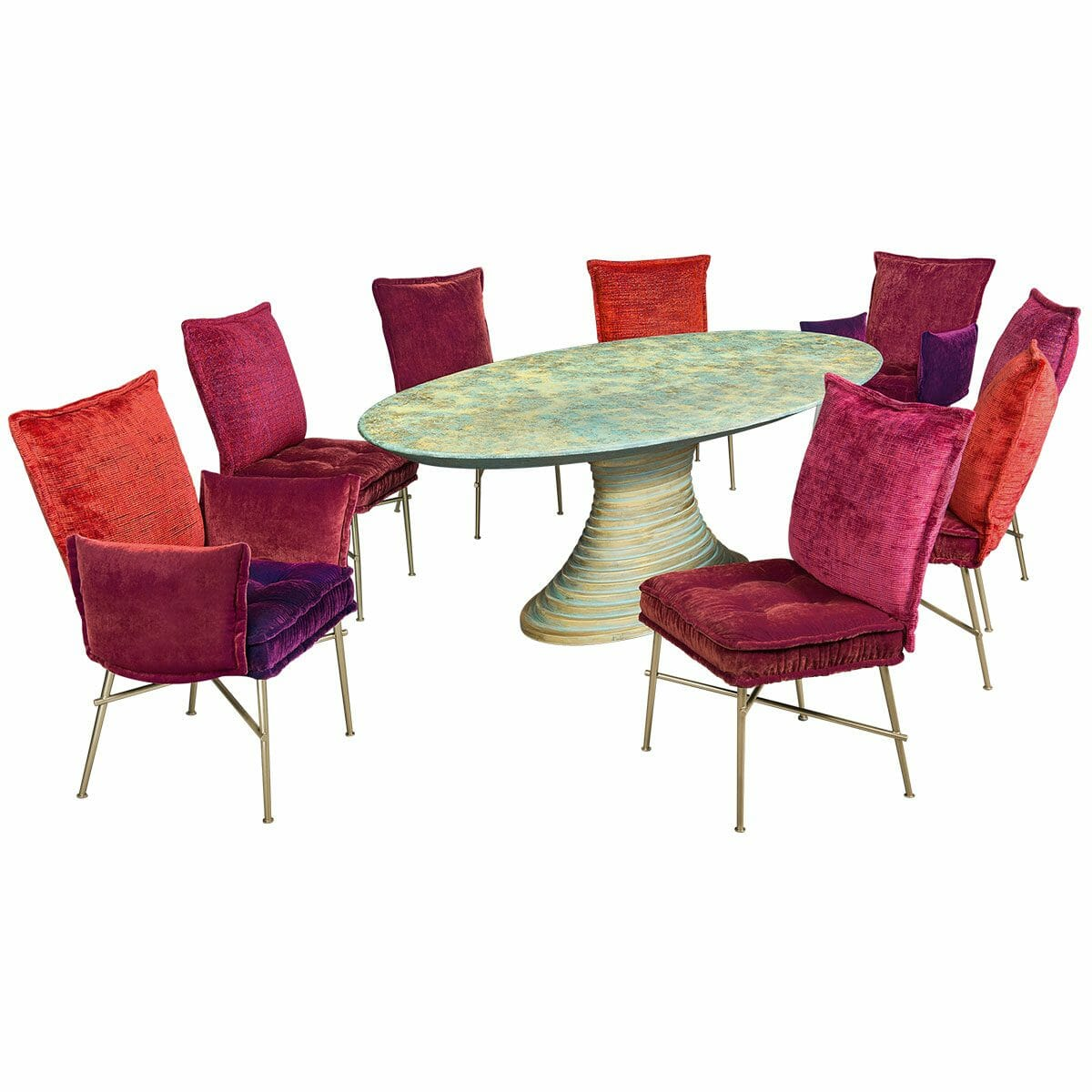 Bretz Essgruppe NOFRETETE SET 1 in berry Mix