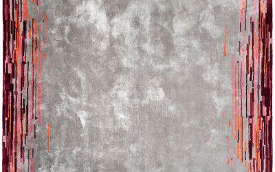 Bretz Teppich DIZZY P 153DI in grau-rot-rose