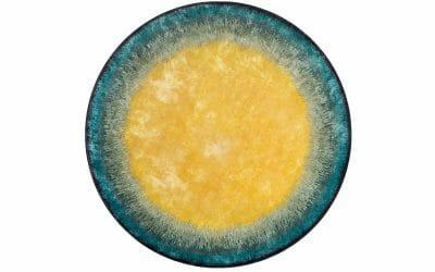 Bretz Teppich Sunrise P 153SU in blau/gelb