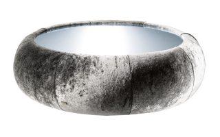 Bretz Cloud 7 Couchtisch N154 in silberschimmer