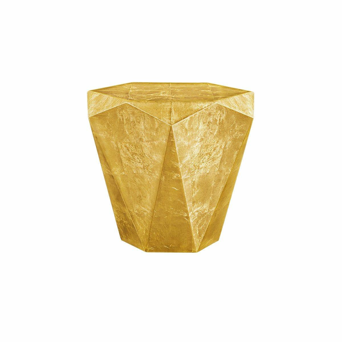 Bretz Stealth Beistelltisch B145G Messing-Blatt golden