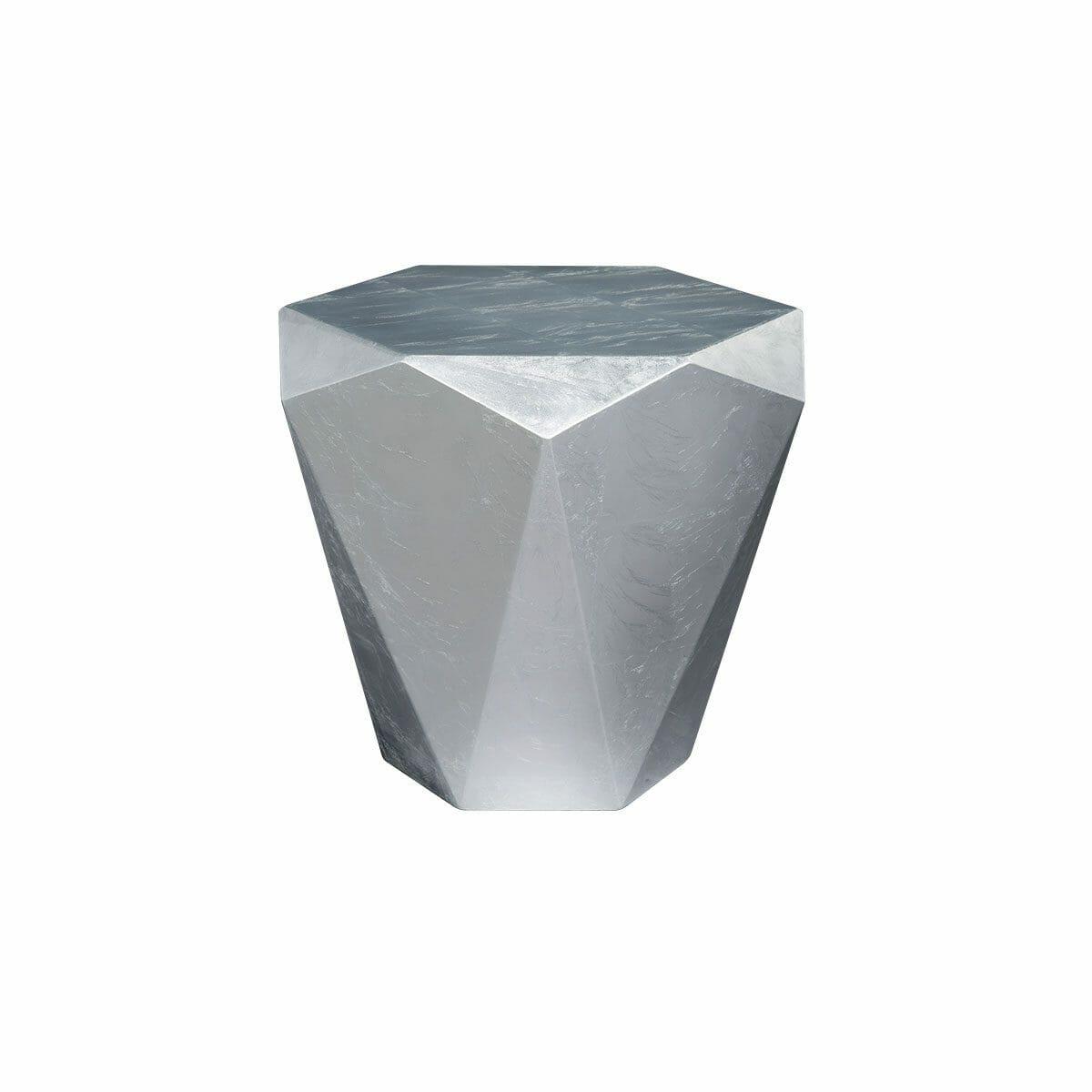 Bretz Stealth Beistelltisch B145S Aluminium-Blatt silbern