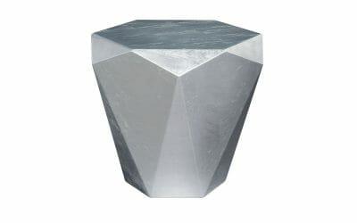 Bretz Beistelltisch Stealth B145S Aluminium Blatt silbern
