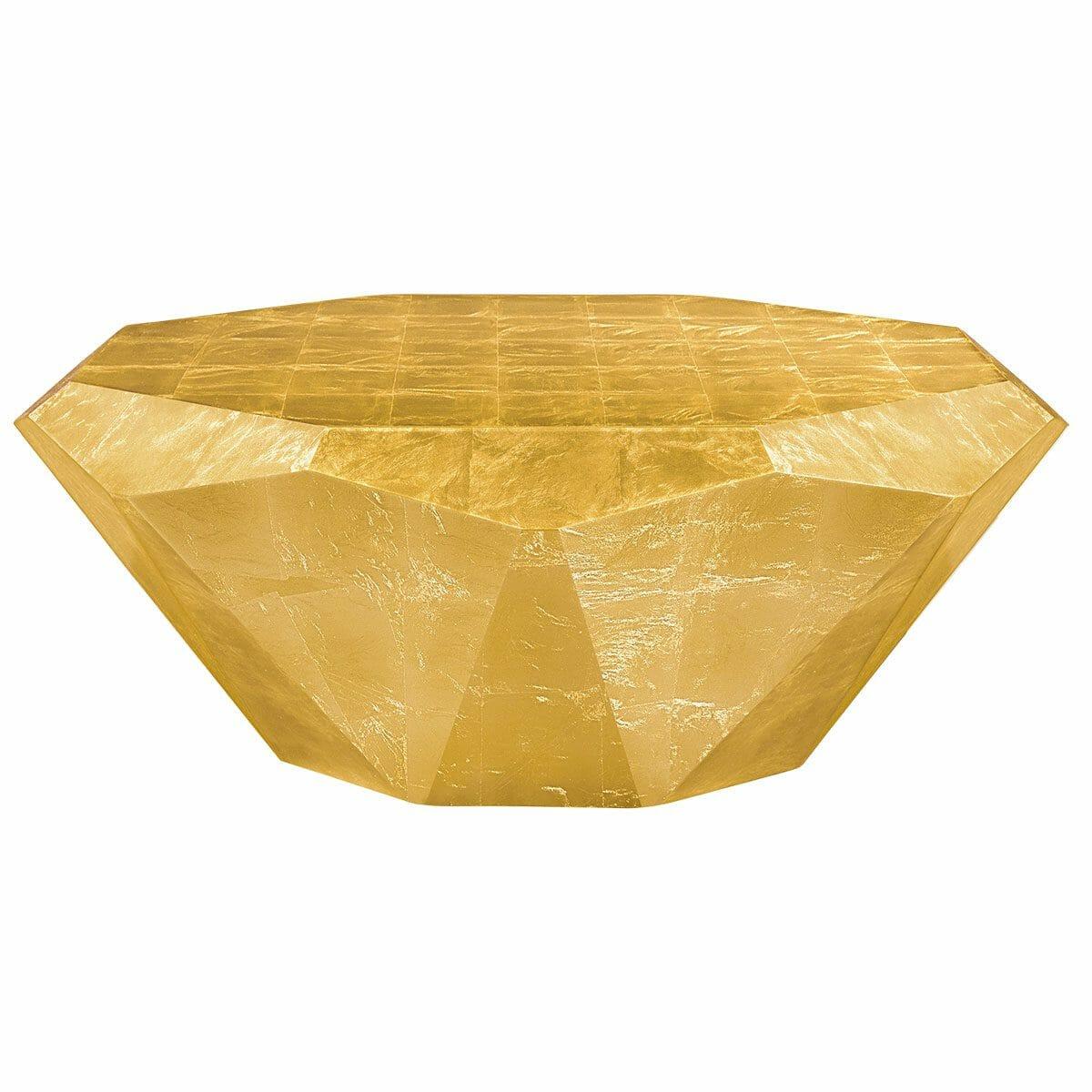 Bretz Couchtisch Stealth R145G golden (Messing Blatt)