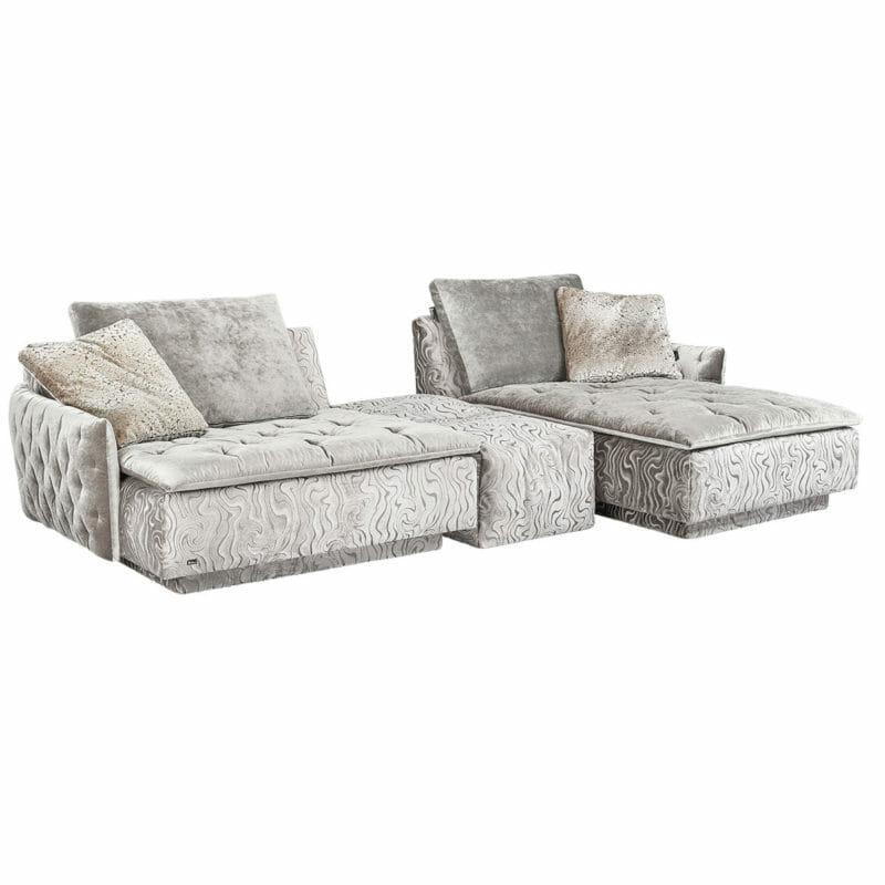Filosouf Sofa mit Ottomane und Hocker