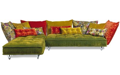 Bretz Ohlinda Sofa Z118li in Midsummer-oliv-Gobelin Mix